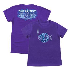 Women's Snowflakes 1999 Tour Tee on Purple