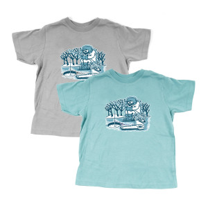 Kids Pollock Ice Fisherman Tee
