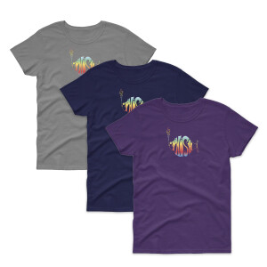 Women's Classic Rainbow Logo Tee