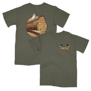Eugene Fall Tour Event Tee on Military Green