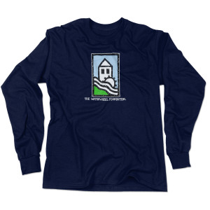 WaterWheel Foundation on Organic Navy Long Sleeve