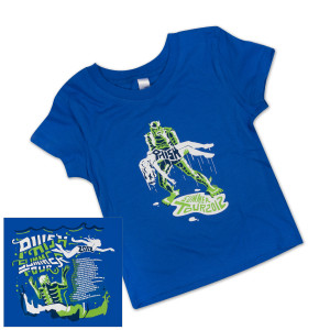 Toddler/Kids Creature Summer 2012 Tour T on Royal Blue