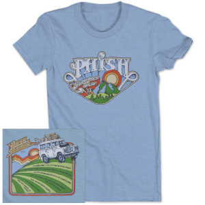 Women's Road Trip Summer 2013 Tour T on Sky Blue