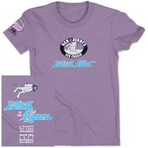 Ben & Jerry's Phish Food Organic Cotton T on Purple Heather