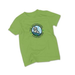Waterwheel Kids Organic Cotton Round Logo T on Avocado
