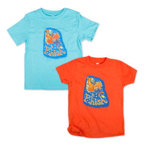 Pollock Rocket Kids T on Orange