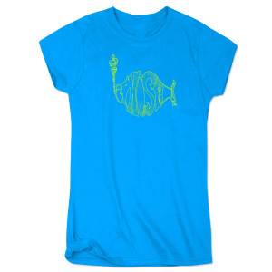 Women's Union Stroke Logo T - Pool Blue