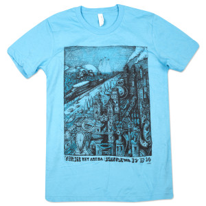 Seattle Fall Tour T on Light Blue