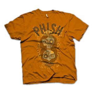 Halloween Vegas T on Burnt Orange