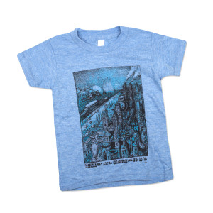 Kid's Seattle Fall Tour T on Light Blue