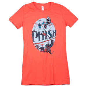 Women's Chula Vista Fall Tour T on Coral