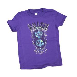 Kid's Halloween Vegas T on Purple