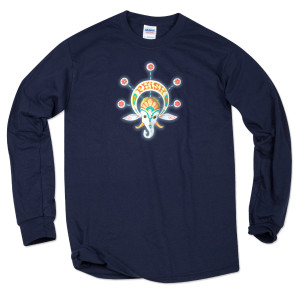 Elephant Longsleeve on Navy