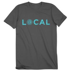 WaterWheel Men's Local Logo on Charcoal