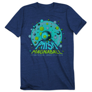 The Rounds Magnaball Event T-shirt on Heather Navy