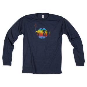 Classic Rainbow Logo on Long Sleeve Navy