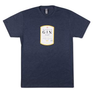 Bathtub Gin T-shirt on Tri-blend Navy