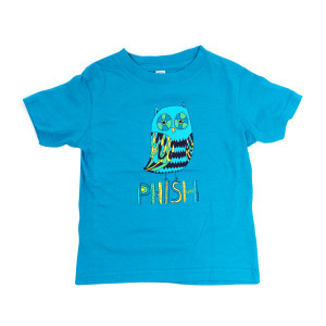 Kids Owl T on Heather Blue
