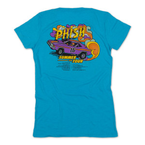 Women's Draggin' Summer 2016 Tour T on Tri-Aqua