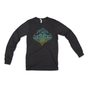 Vultures Tour 2016 Long Sleeve T on Charcoal