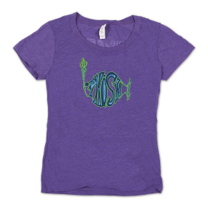Women's Ape Diver Summer 2016 Tour T on Purple Berry