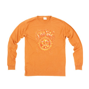 Pollock Sun Longsleeve Heavy Tee on Orange
