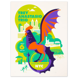 Trey Anastasio Central Park Summerstage, New York City LE Poster