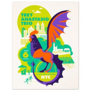 Trey Anastasio Central Park Summerstage, New York City LE Poster