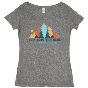 Women's Trey Anastasio Band In The Pines Tour T on Tri-Blend Grey