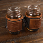 Ascend Leather/Felt Koozie