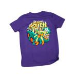 Kids Gator Wrestlin' New Year's Run Event T on Purple