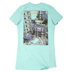 Women's DecaDeco New Year's Run Event T on Seafoam Green
