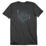 Music of the Spheres Magnaball Event T-shirt on Dark Heather Gray