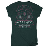 Womens Music of the Spheres Magnaball Event T-shirt on Emerald Tri-blend