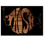 Classic Logo Wood Grain Sticker