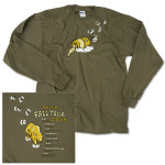 Honey Pot Organic Long Sleeve Fall Tour 2009 T-Shirt on Military Green