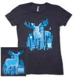 Women's Big City Moose 30th Anniversary Event T on Charcoal