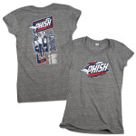 Women's Gas Man Summer 2014 Tour T on Vintage Gray