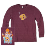 Domes Summer Tour 2014 Longsleeve on Maroon