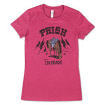 Ladies' Pollock Horse Sling Colorado Tee on Heather Raspberry
