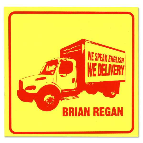 Brian Regan We Speak English Sticker