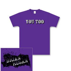 Brian Regan You Too Purple Youth T-shirt