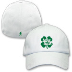 White Take Luck FlexFit Hat