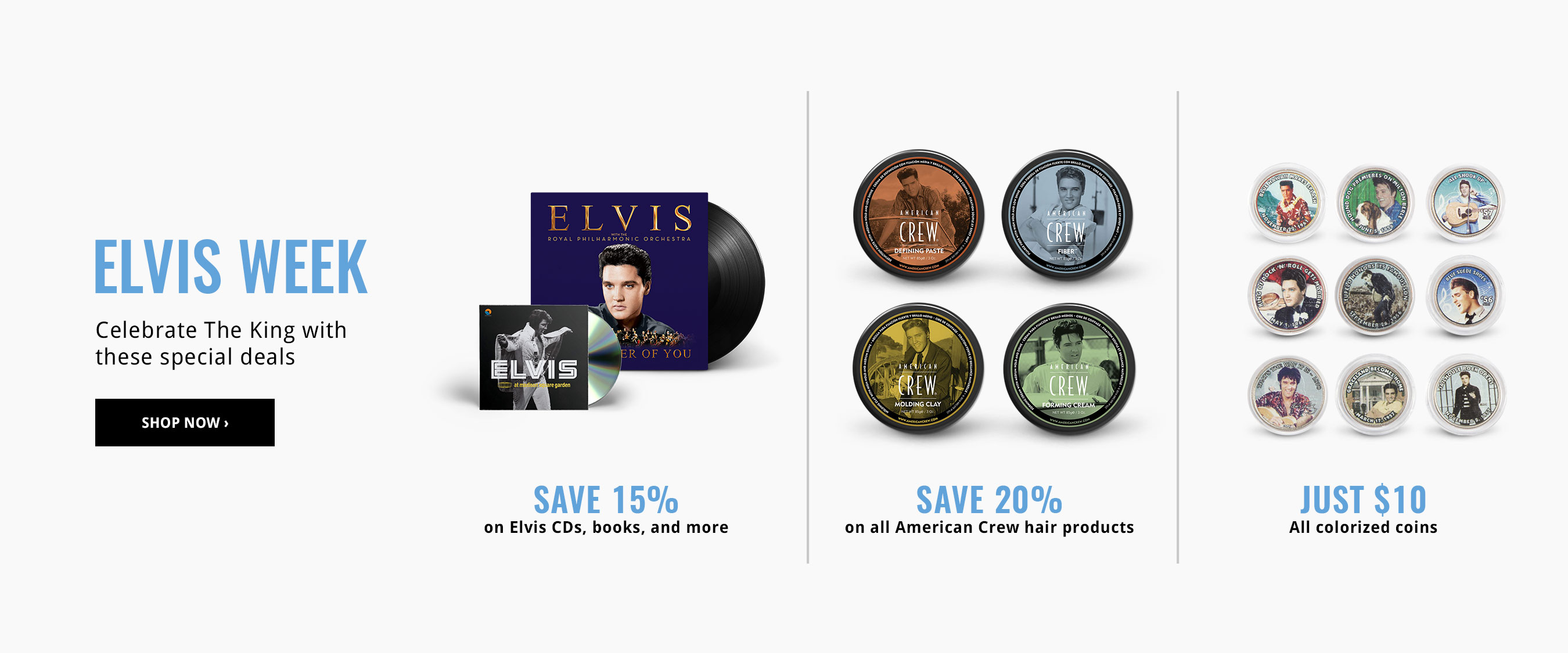 15% Off Media for Elvis Week