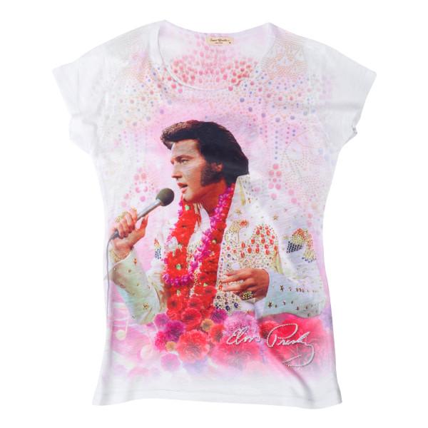 b8b565261 Elvis Aloha Ladies T-shirt | Shop the ShopElvis.com Official Store