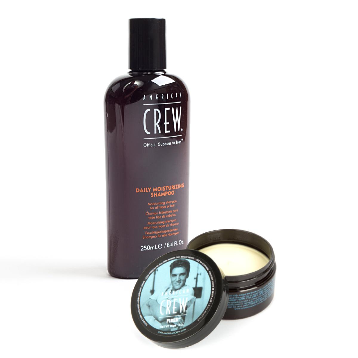 American Crew King Fiber + Daily Shampoo Bundle