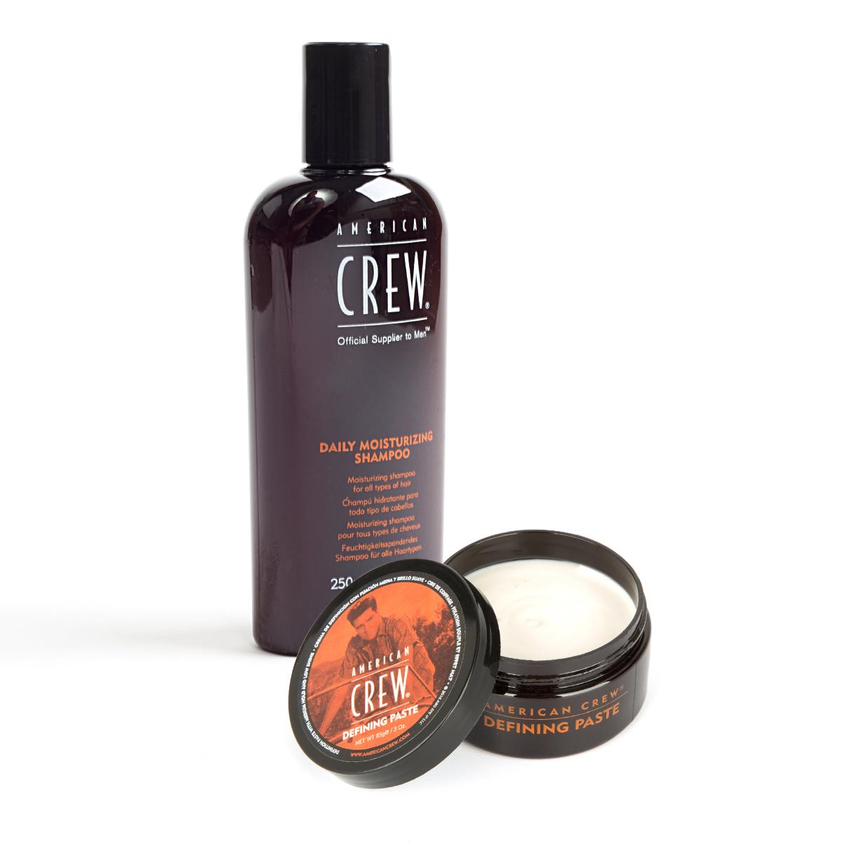 American Crew King Defining Paste + Daily Shampoo Bundle