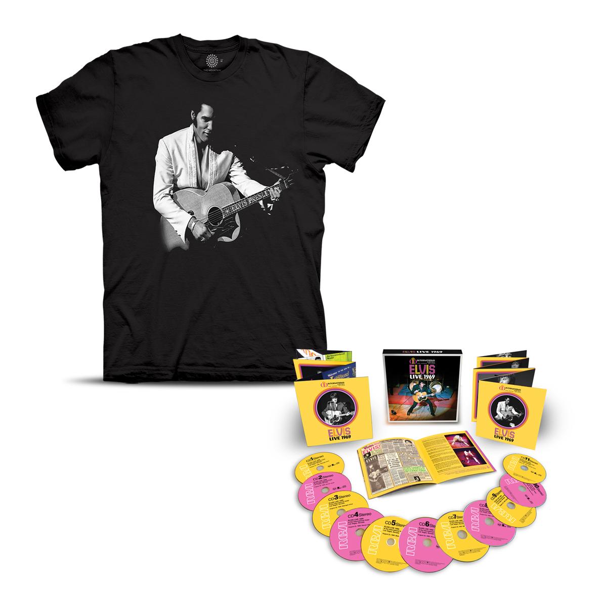 Elvis LIVE 1969 International Hotel T-shirt + CD Bundle