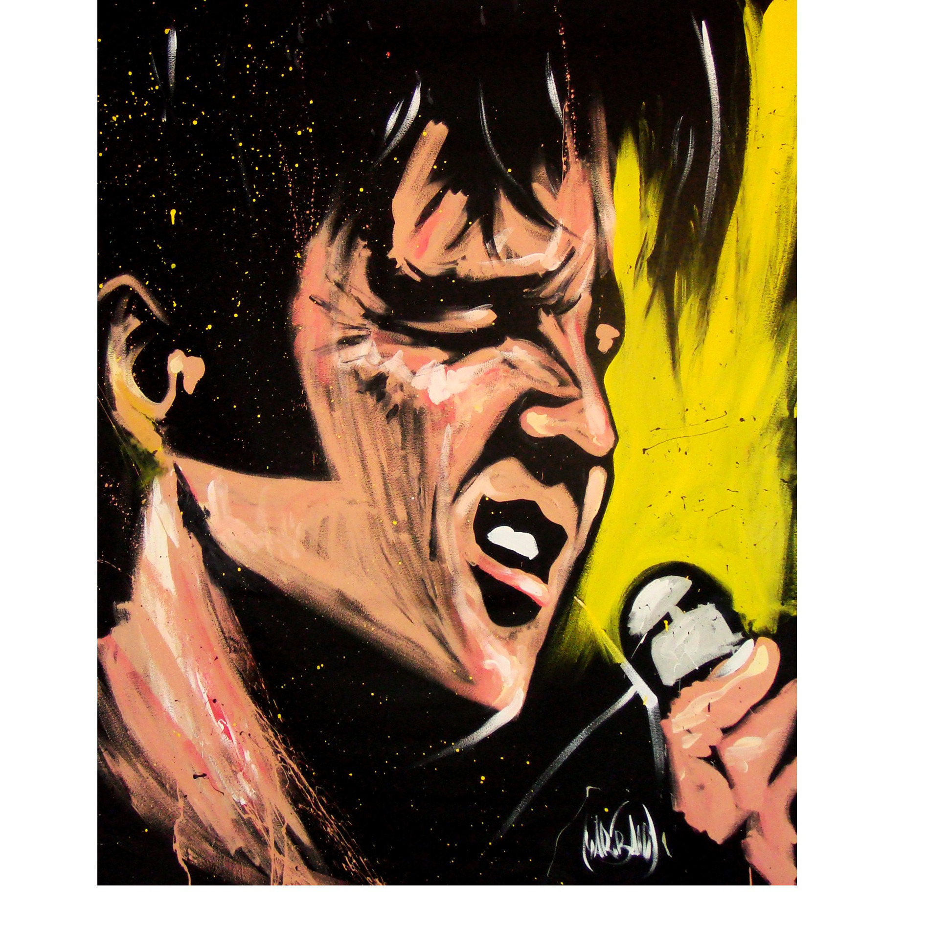 Elvis '68 Comeback Special Art Print by David Garibaldi - 18 by 24 inches