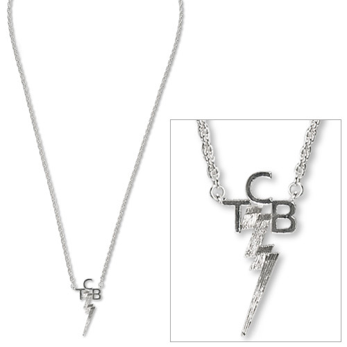 Elvis TCB Silver Plated Necklace